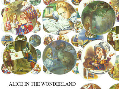 200 Alice in the wonderland Bottle Cap Images for Necklace,Bow,Cabochon Image