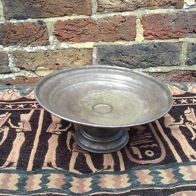 Vintage. Silver Plated Bowl. Stand. Pot Stand. Tray. Planter. Plant Holder.