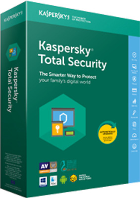 Kaspersky Total Security 3 Device 1-Year Win, MAC, Android New Digital Download