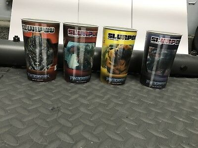 Transformers Holographic Revenge Of The Fallen ROTF 7-Eleven Cups Complete Set