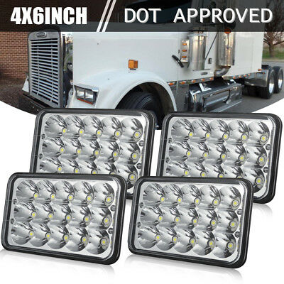 4pcs LED Headlights For Kenworth T800 T400 T600 W900B Classic 120/132 Bulb