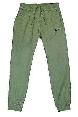 Nike Sportswear Players Woven Pants Joggers Tapered Slim Fit Army Green Medium
