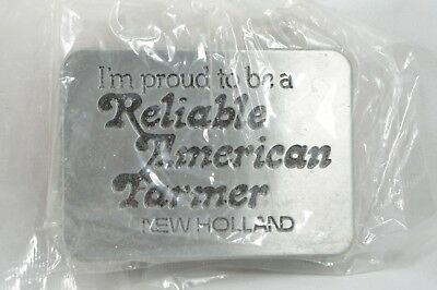 Vintage Reliable American Farmer New Holland belt buckle men's accessories 1982