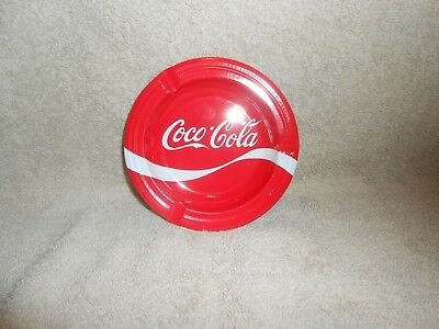 "Coca-Cola Metal Ashtray Unused 5"" Round"