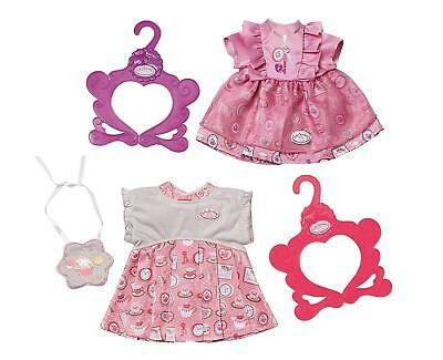 Zapf Creation Baby Annabell Day Dresses Pink or Purple Dress Outfit Doll Clothes