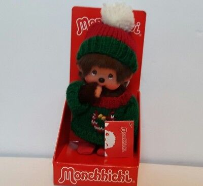 Rare Sekiguchi Monchhichi Christmas Holiday Sweater Doll Japanese Anime