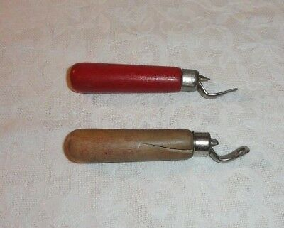 Lot Of 2 Vintage Wood Handle Bottle Openers - Edlund Co. 1933 Patent Date