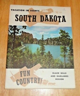 VINTAGE 1960's VACATION IN SCENIC SOUTH DAKOTA BROCHURE BOOK