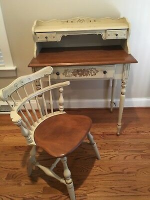Ethan Allen Hitchcock Ladies Writing Desk and Chair