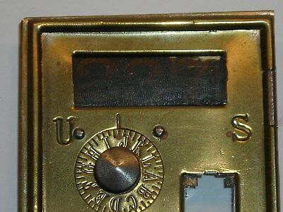 Antique Circa 1886 Post Office Door Vintage USPS Postal Mail Box P.O. Bank