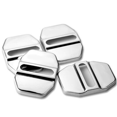 4* Car Accessories Decorative Stainless Steel Door Lock Protective Auto Cover