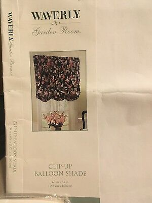 Waverly Garden Room Harbor Square Valance Curtain *Clip  Up Balloon Shade*