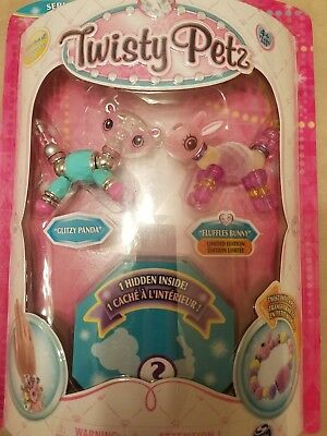 NIB Twisty Petz Surprise 3 Pack Glitzy Panda Fluffles Bunny /& One Hidden Secret