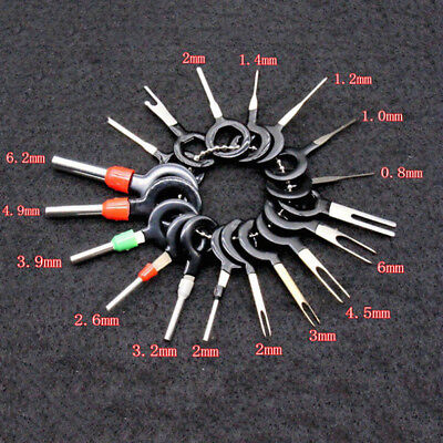 18Pcs/Set Car Wire Terminal Removal Tool Wiring Connector Pin Extractor Puller