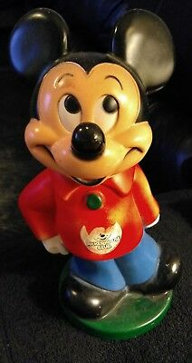 Vintage 70s Disney Mickey Mouse Piggy Bank
