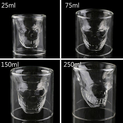 Cool Skull Head Shot Glass Creative Designer Party Wine Cup Drinkware ID