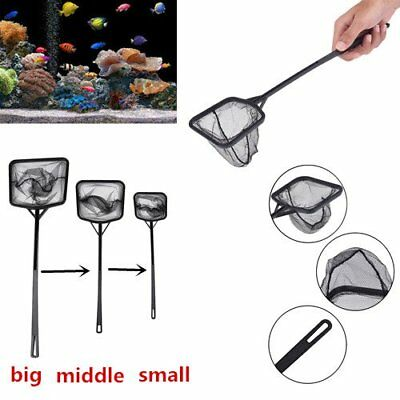 Portable Long Handle Square Aquarium Fish Tank Fishing Net Landing Net MR5