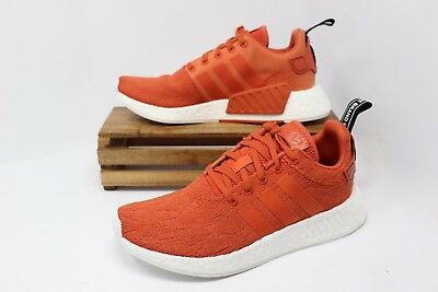 09f738929 Adidas NMD R2 Boost Running Shoes Harvest Orange White BY9915 Men s Size 10  NWOB