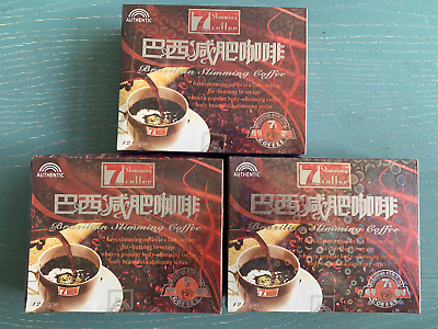 3 Boxes Brazilian 7 Days Authentic Quick Weight Loss Slimming Coffee