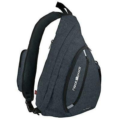 Versatile Canvas Sling Bag / Urban Travel Backpack, Black | Wear Over