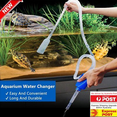 Aquarium Clean Vacuum Water Change Gravel Cleaner Fish Tank Siphon Pump XU#