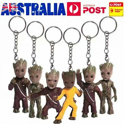 Baby Groot Guardians of the Galaxy Vol. 2 Key Chain Alloy Keyring Figure ggt