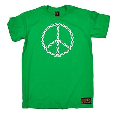 Cycling T-Shirt Funny Novelty Mens tee TShirt - Peace Chain