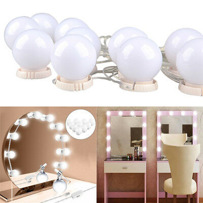 10 LED specchio vanity LUCI Kit per MakeUp Trucco Toletta Set Hollywood stile