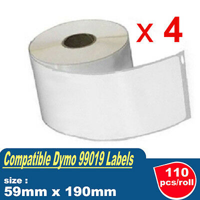 4x Compatible for Dymo SD99019 File Folder Label 59mmx190mm Labelwriter 450 400