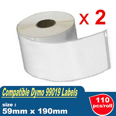 2 Rolls Compatible 99019 SD99019 Address label 59mm x 190mm for Dymo labelWriter