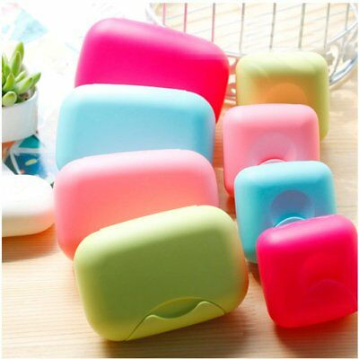 Portable Bathroom Soap Case Home Shower Travel Soap Holder Sealing Soap Box E3