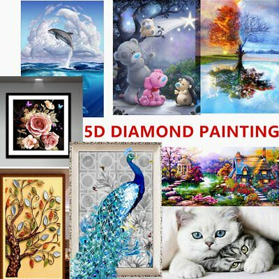 DIY 5D Diamond Needlework Embroidery Painting With Tools Home Wall Decoration E3