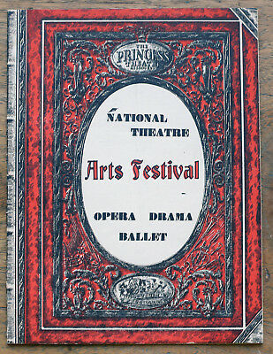 OLD PROGRAMME Princess National Theatre Arts Festival 1952 The Masked Ball