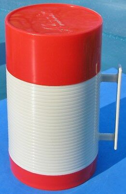 Vtg1950s Aladdin Hy-Lo Wide Mouth Pint Thermos Bottle Red WM1040P USA ONLY $4.49