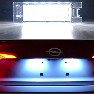 LED LICENSE NUMBER PLATE LIGHT VAUXHALL OPEL CORSA C D ASTRA H J INSIGNIA Hot