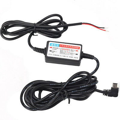 12v to 5v Hard Wire Power Adapter Cable Cord USB For Car GPS DVR Dash Cam