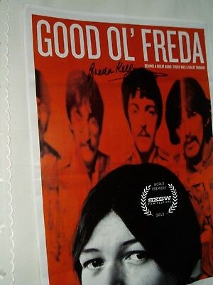 FREDA KELLY....The Beatles secretary ....book poster SIGNED BY HER...Wow