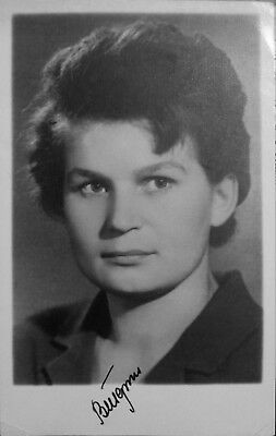 Valentina Tereshkova signed ,Rare photo