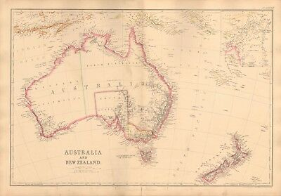 1860  Antique Map - Australia And New Zealand