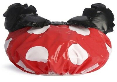 DISNEY MINNIE MOUSE Shower Cap Hat Red White & Black Bow Licensed Primark