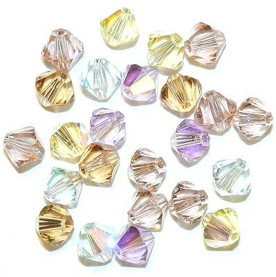 SCB5518 Innocence Pastel Pink Yellow Blue 6mm Bicone Swarovski Crystal Bead 24pc