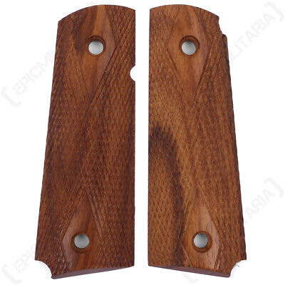 Colt 1911 Walnut Pistol Grips - WW2 Vietnam WW1 Repro US Army Browning Airsoft