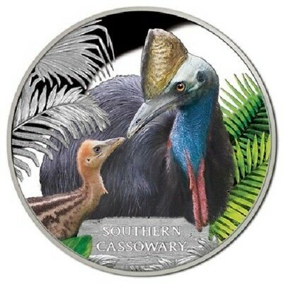 2015 $1 Endangered and Extinct Series - Southern Cassowary 1 oz Silver Proof