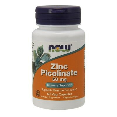Now Zinc Picolinate 50mg - 60 vegane Kapseln Zink Muskelregeneration