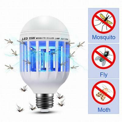 Light Bulb Mosquito Lamp Fly Trap Killer Indoor Outdoor Insect Neu