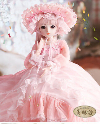 New 1/3 Handmade PVC BJD MSD Lifelike Doll Joint DollS Baby Gift New Olina 24""