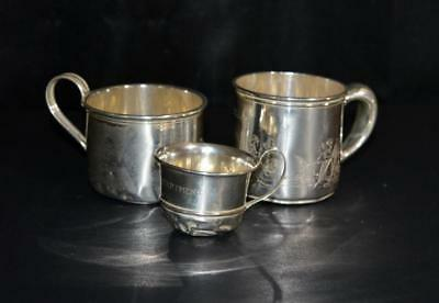 Sterling Silver Baby Cups - Set of 3 - Monogrammed