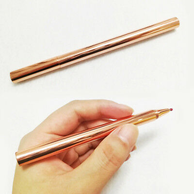Red Copper Rollerball Pen Mens EDC Metal Collectible Roller Ball Pens Collection