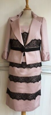 Carla Ruiz Pale Pink And Black Lace Dress And Jacket 14