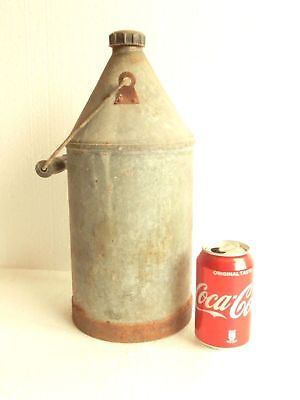 Antique Vintage Galvanized 1.5 gallons Milk Pail Can Jug Bucket w/ Cap & Handle